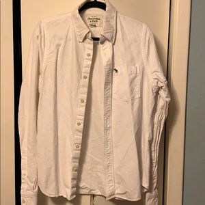Abercrombie & Fitch Muscle Dress Shirt Size M